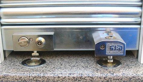 Llaves de una persianas de aluminio